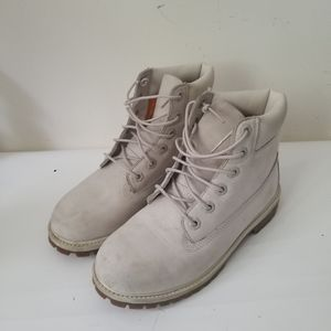 Timberland boots boys cream suede sz 4.5
